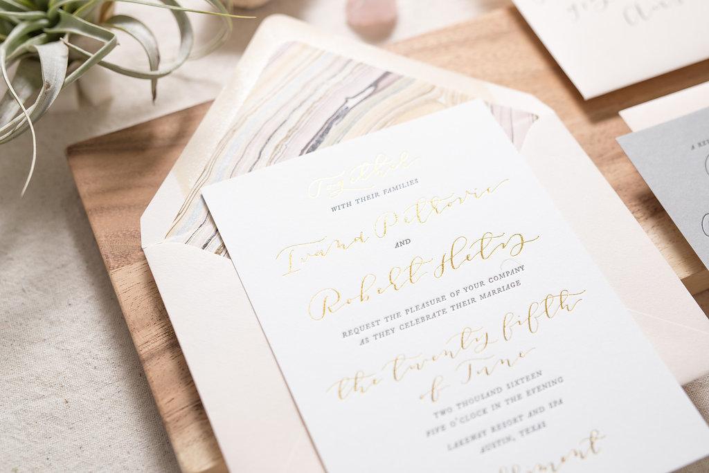 Letterpress wedding invitations & stationery | a custom Michigan ...