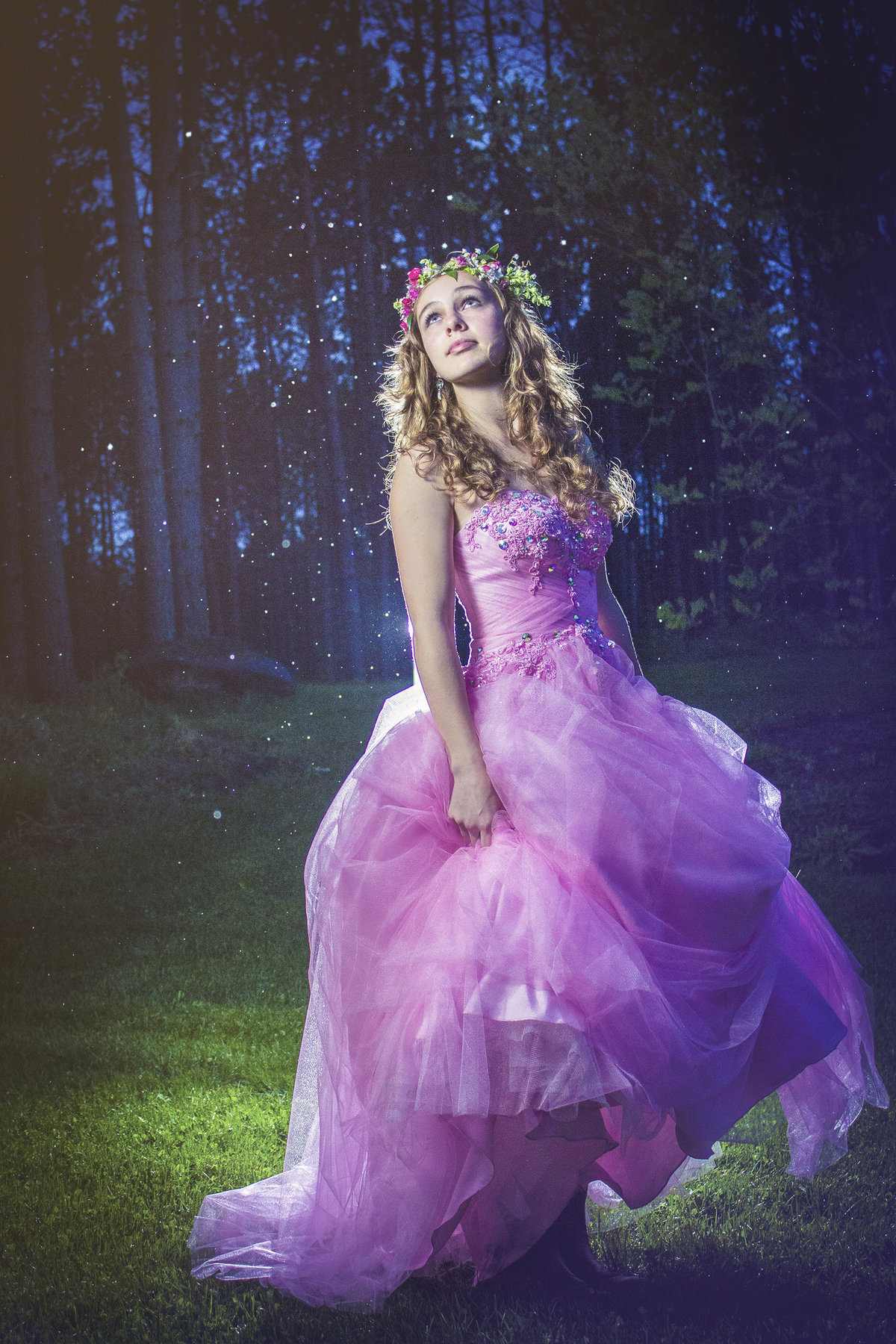 beautiful teenage girl in dreamy prom dress by jacob grant maui hawaii photography