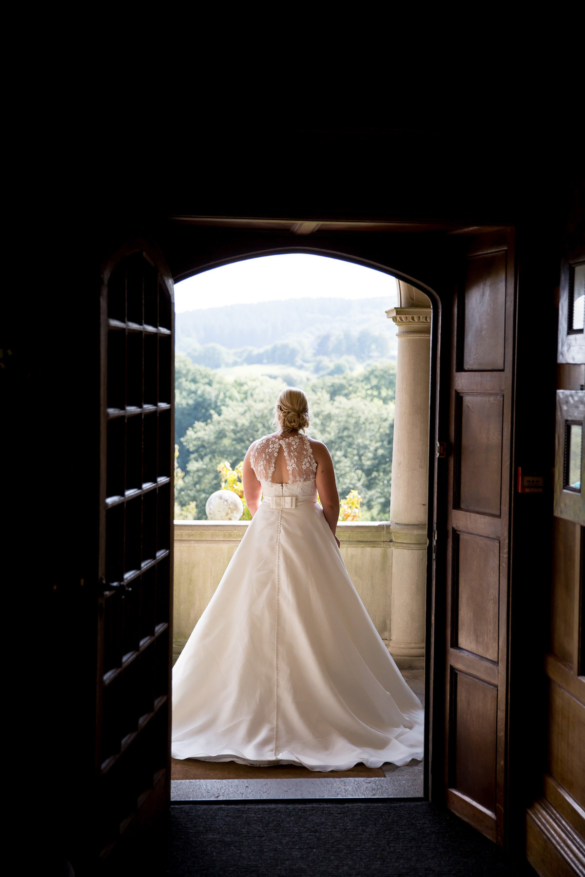 wedding photography of bride at bovey castle