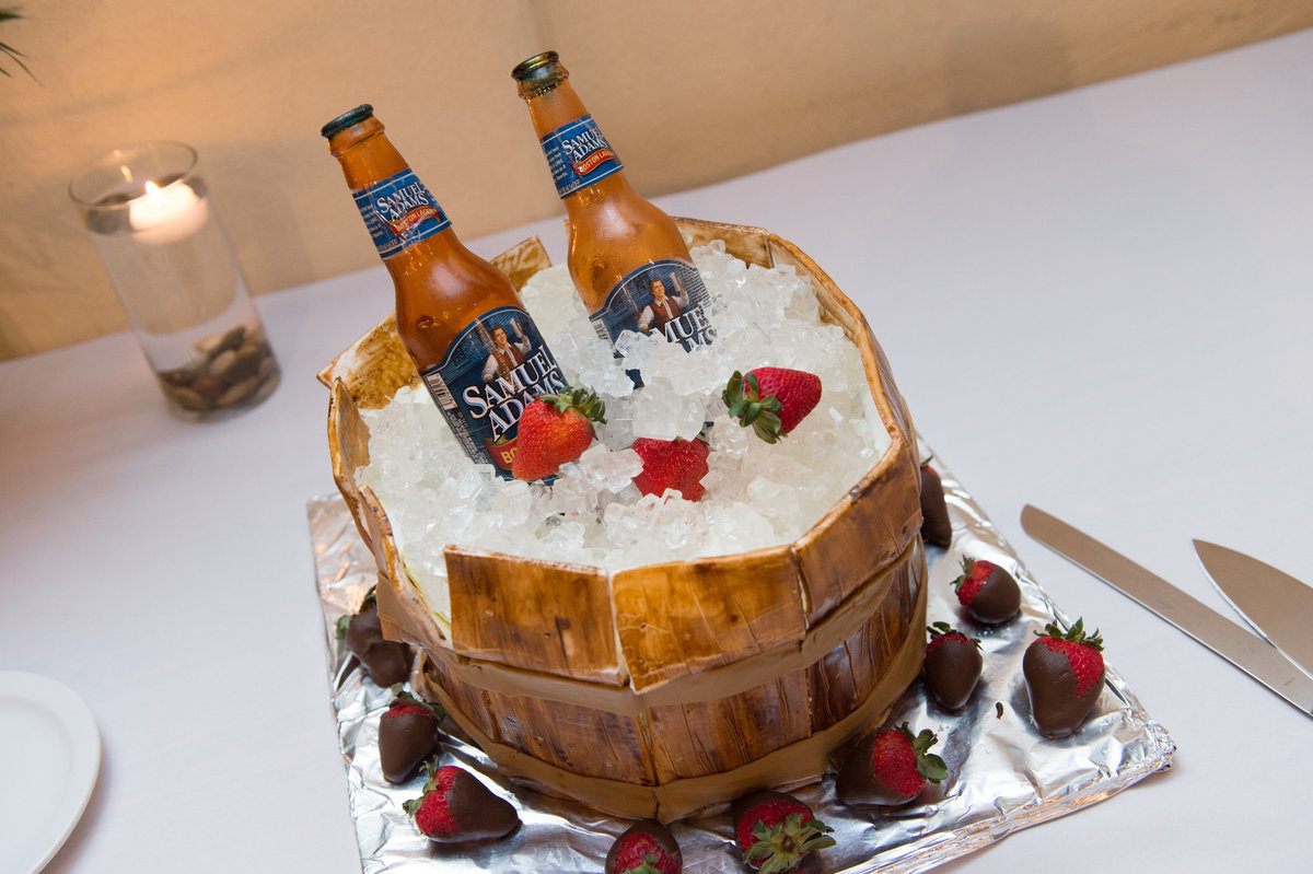 River Rock Event Center Texas Groom's Cake Beer on Ice