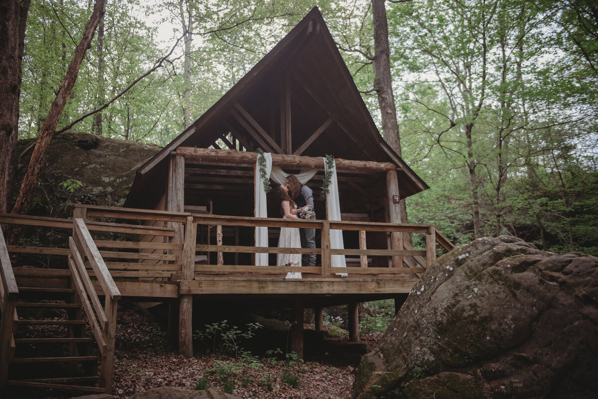 shawnee national forest elopement wedding southern illinois