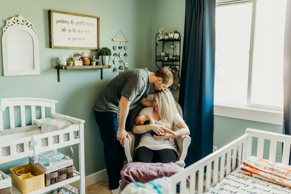 Snuggly indoor newborn photography session-1