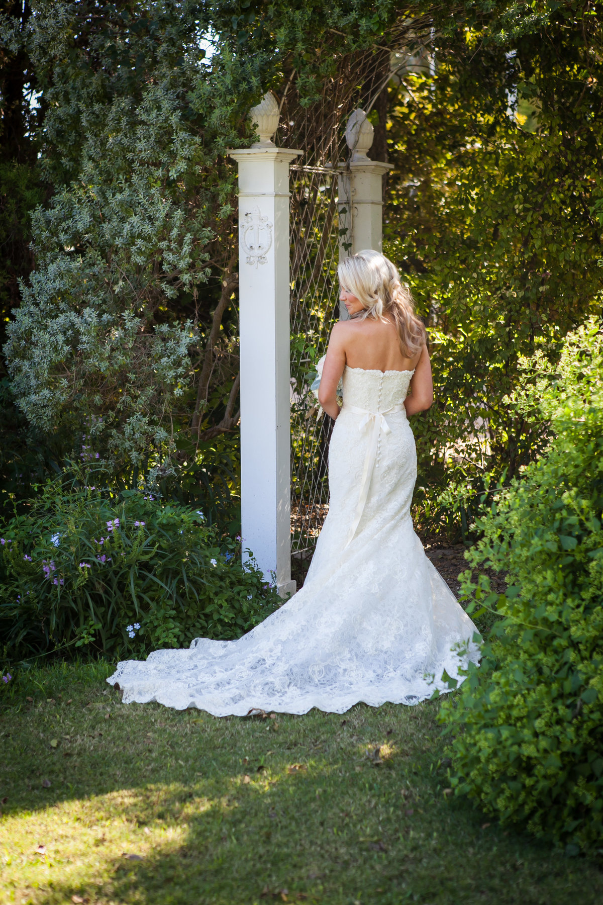 Austin Family Photographer, Tiffany Chapman, bride in garden photo