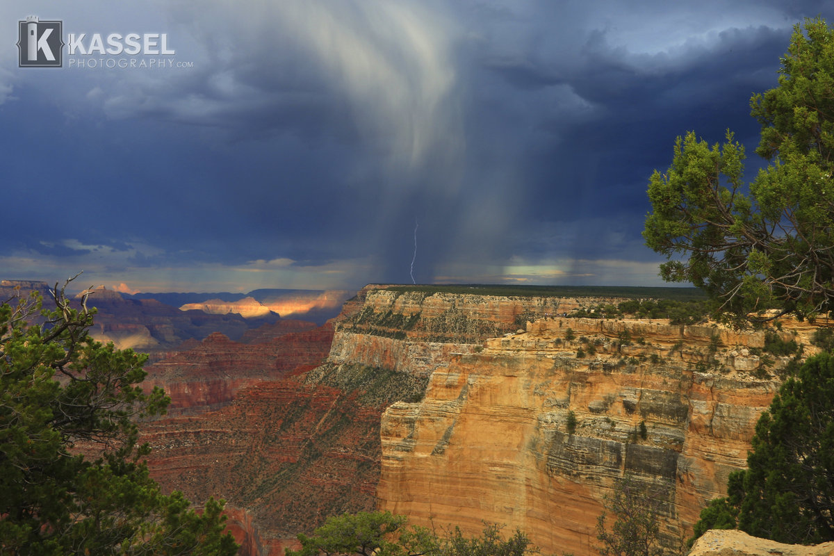 Grand Canyon Storm On The Horizon wLogo