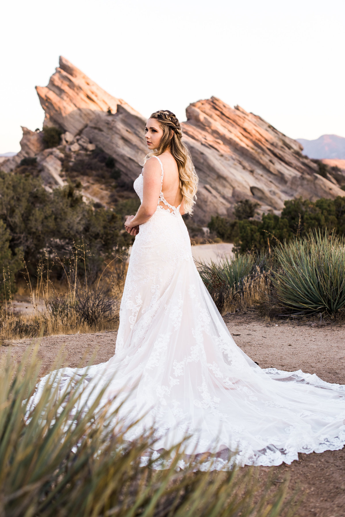 desert wedding portrait photo