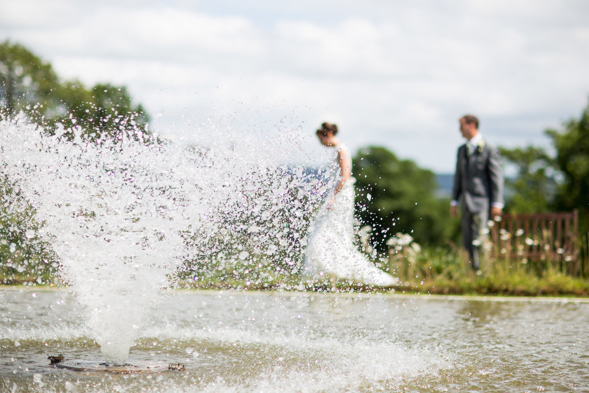 upton barn gardens wedding couple