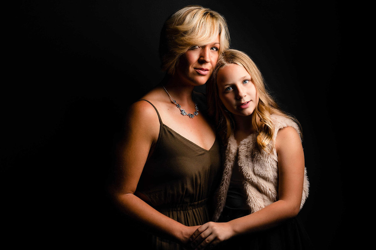 Beautiful Mother and daughter family portrait by King and Fields Studios Charleston SC
