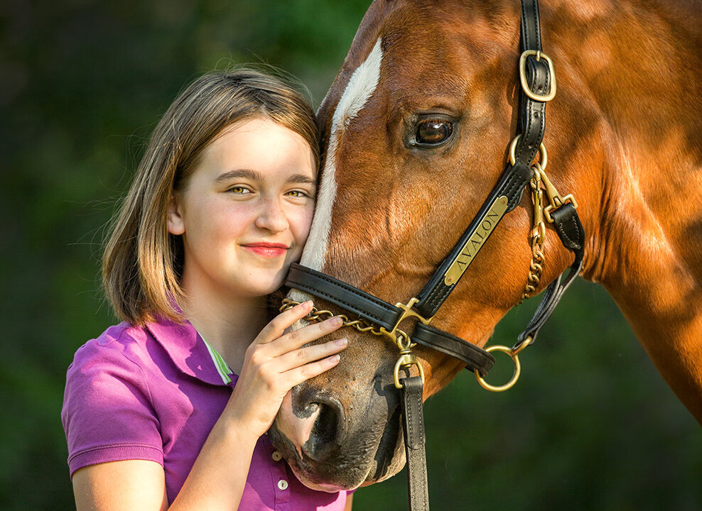 girl with horse portrait photo by Stunning Steeds