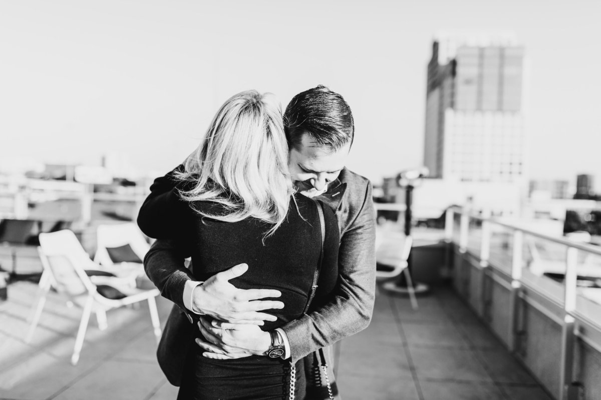 Eric & Megan - Downtown Dallas Rooftop Proposal & Engagement Session-49