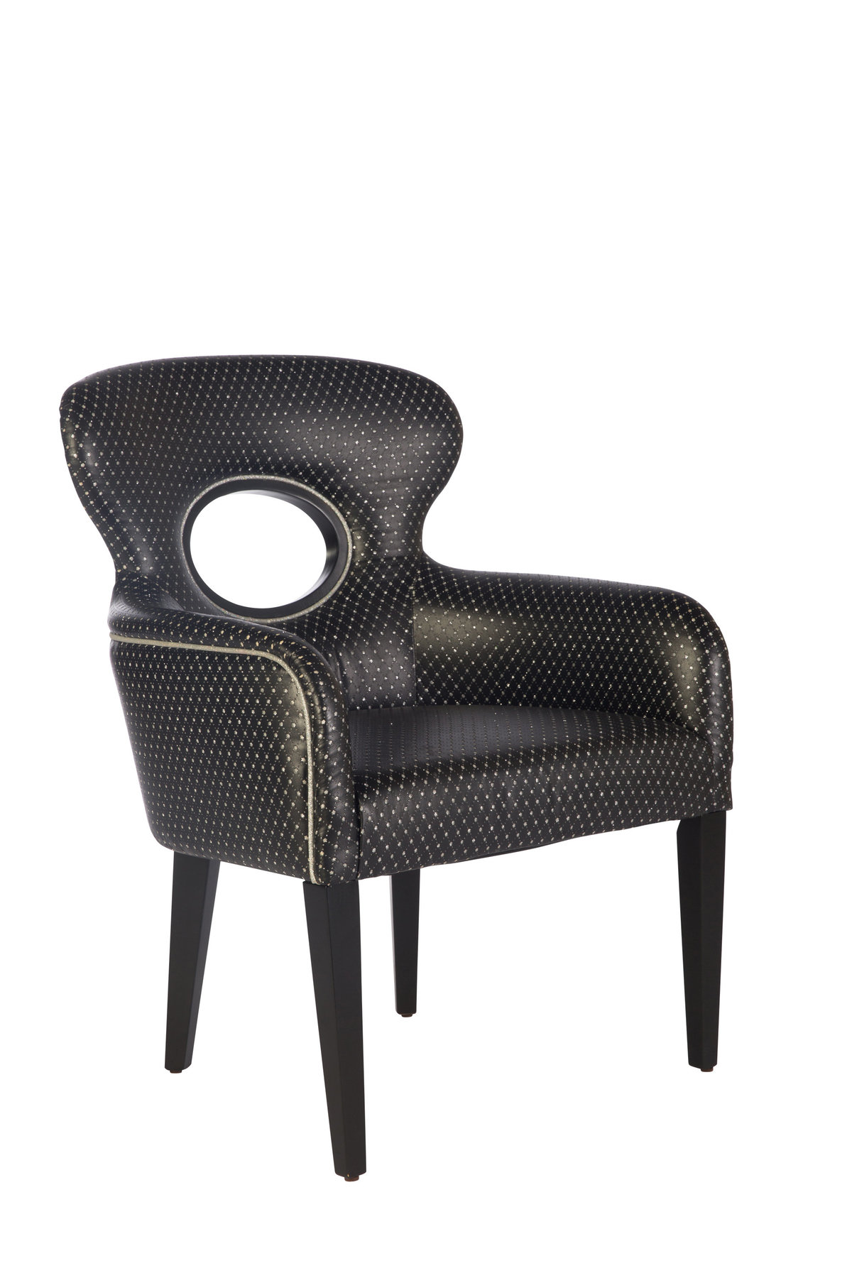 Black Sparkle Armchair