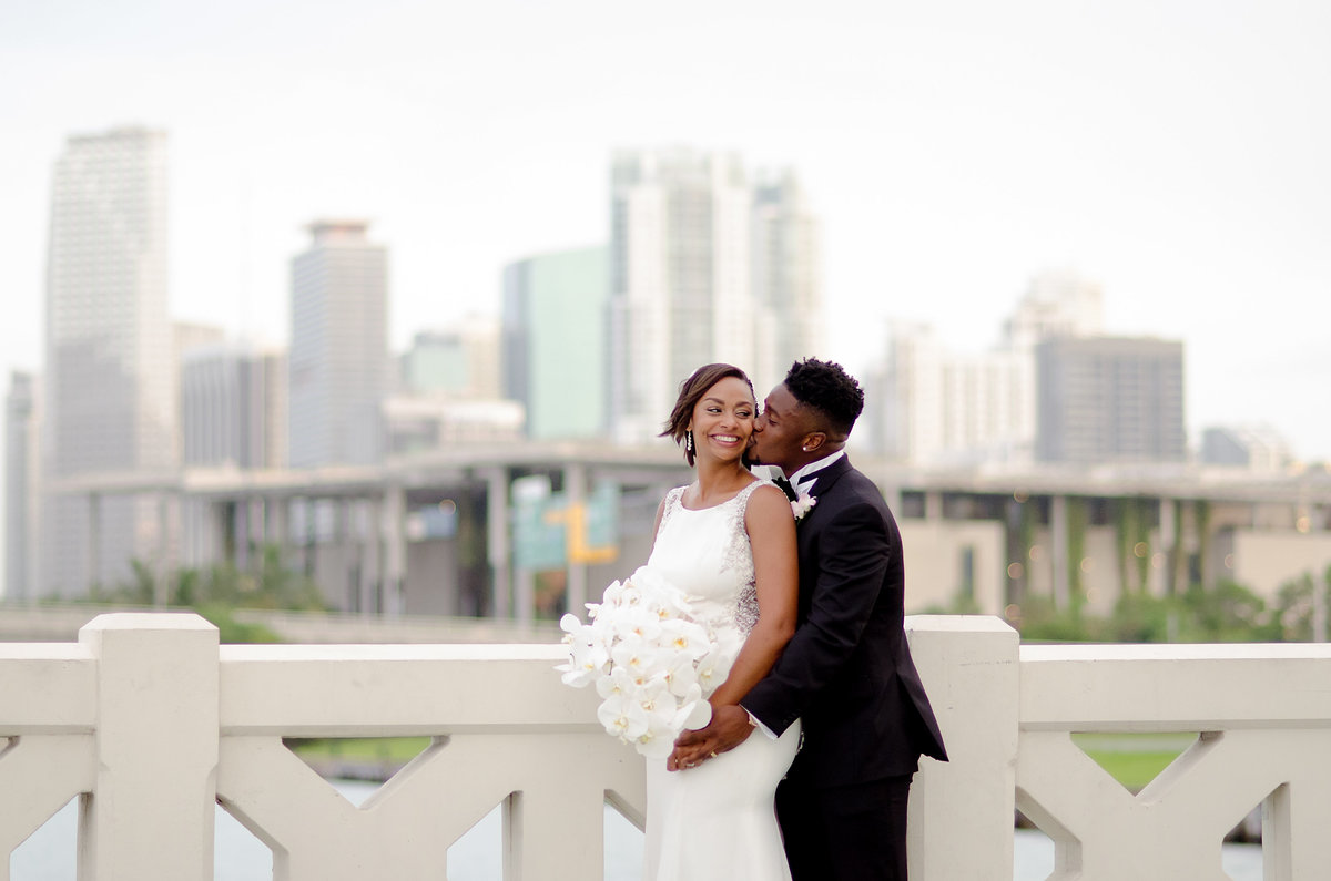 ShaKyra Brandon Radcliff Miami Dolphins Football Running Back Wedding-8