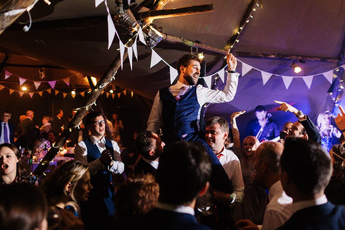 Tipi Wedding on the Broughton Hall Estate