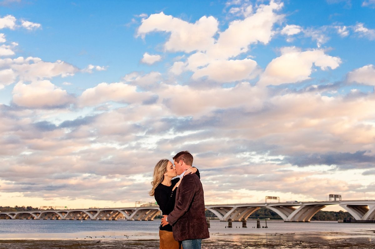 alexandria waterfront sunset engagement session