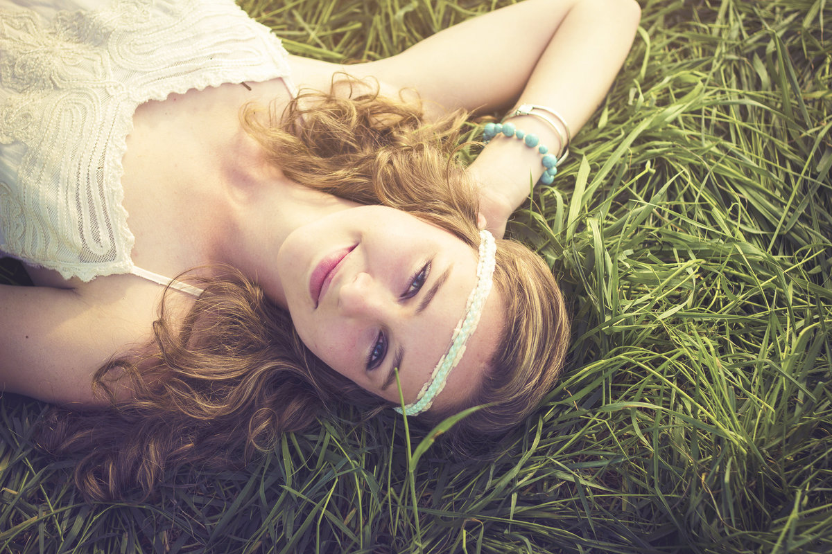 beautiful hipster girl in the country grass by jacob grant maui hawaii photography