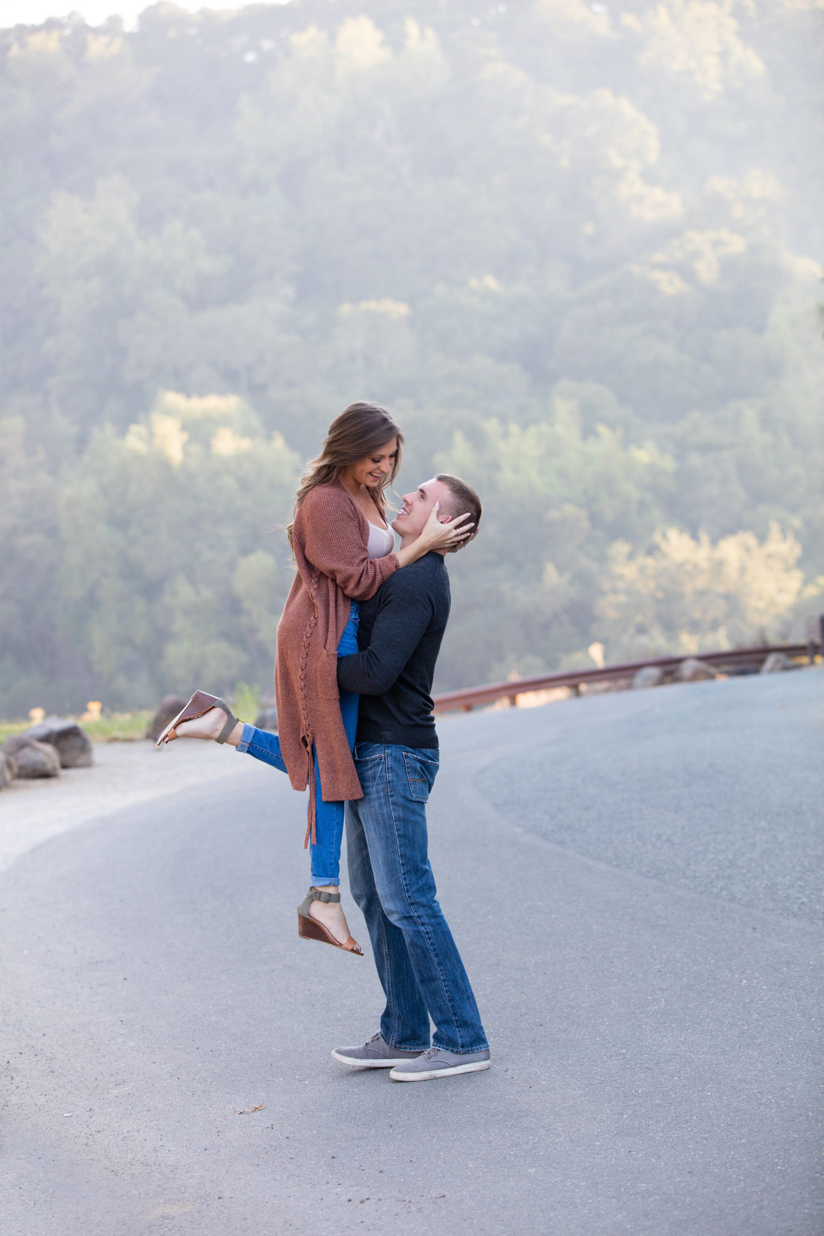 Palo Alto Foothills Park Engagement Photography on a Beautiful Lake
