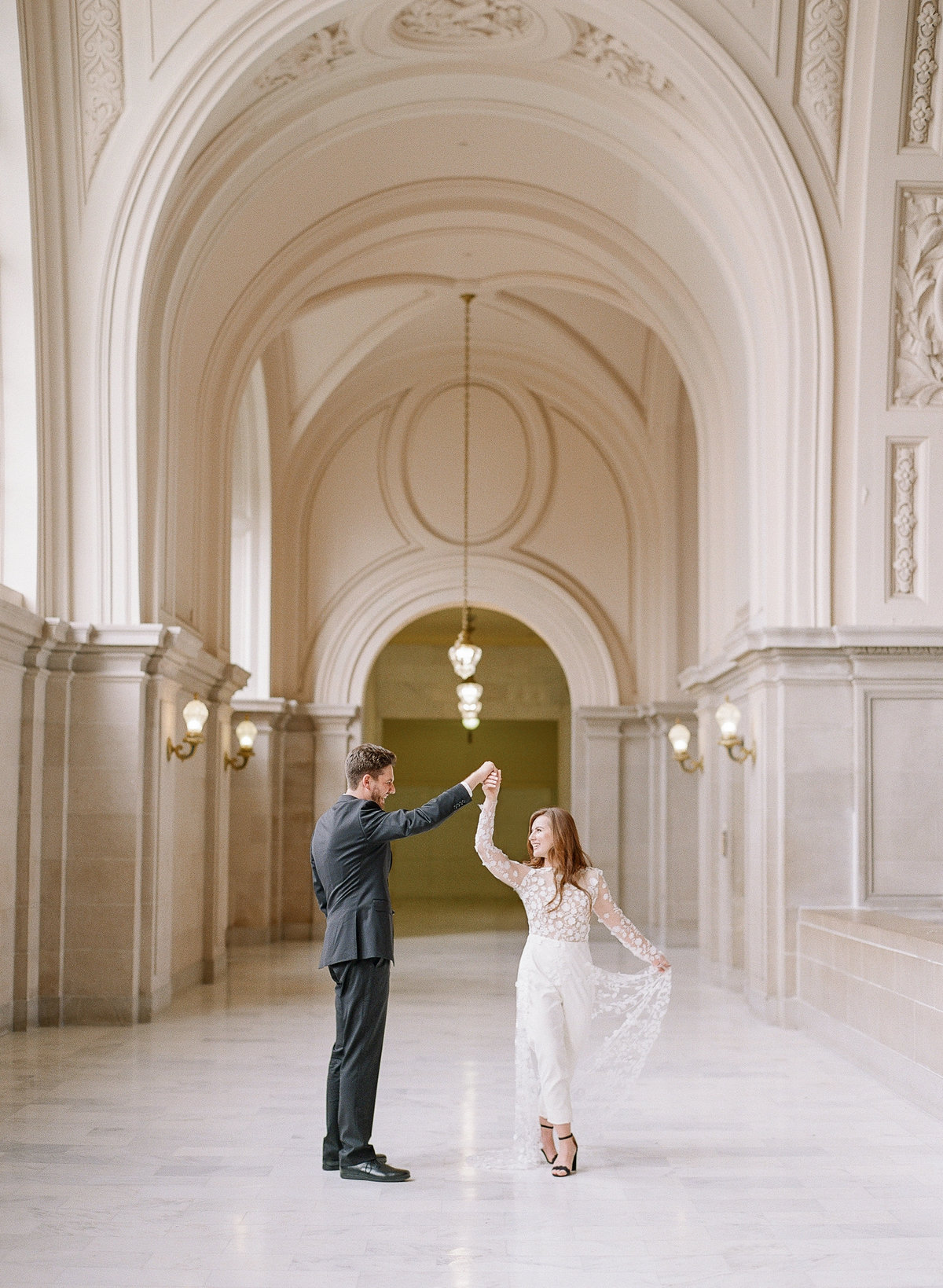 San Francisco City Hall Wedding with Jumpsuit-9
