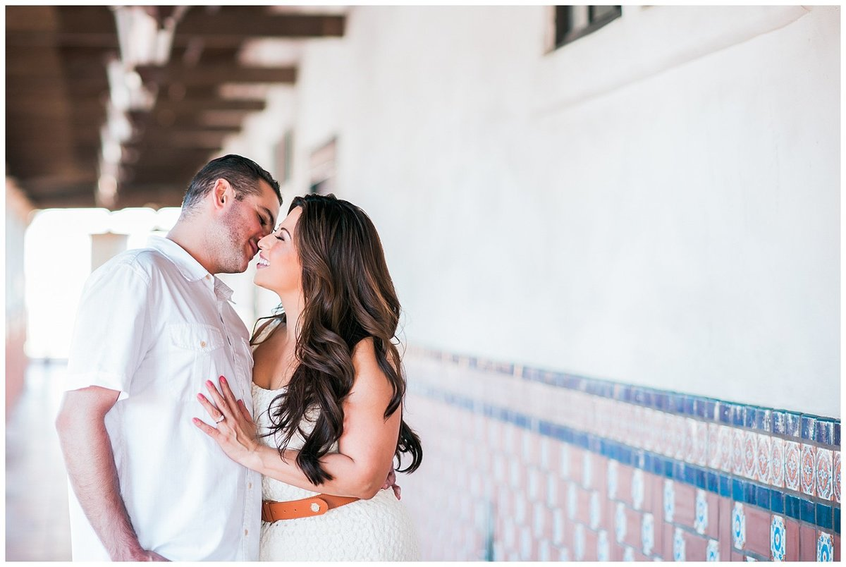 Southern california train depot engagement photographer photo007