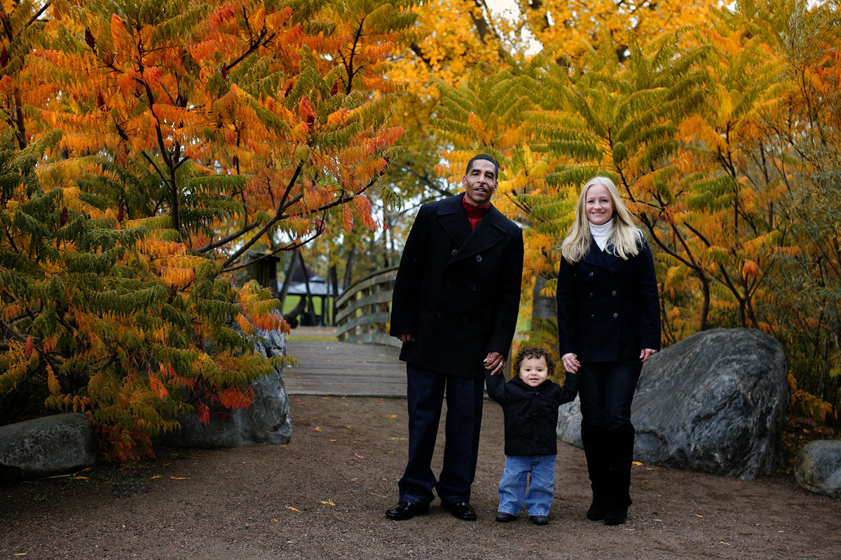 Family Portraits with Fall colors