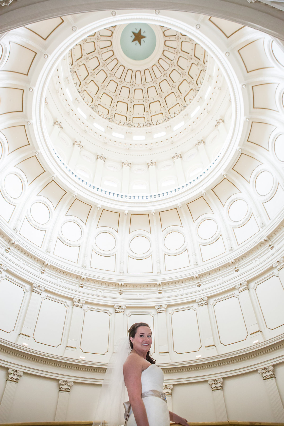 Austin Family Photographer, Tiffany Chapman, bride in state capital building  rotunda photo