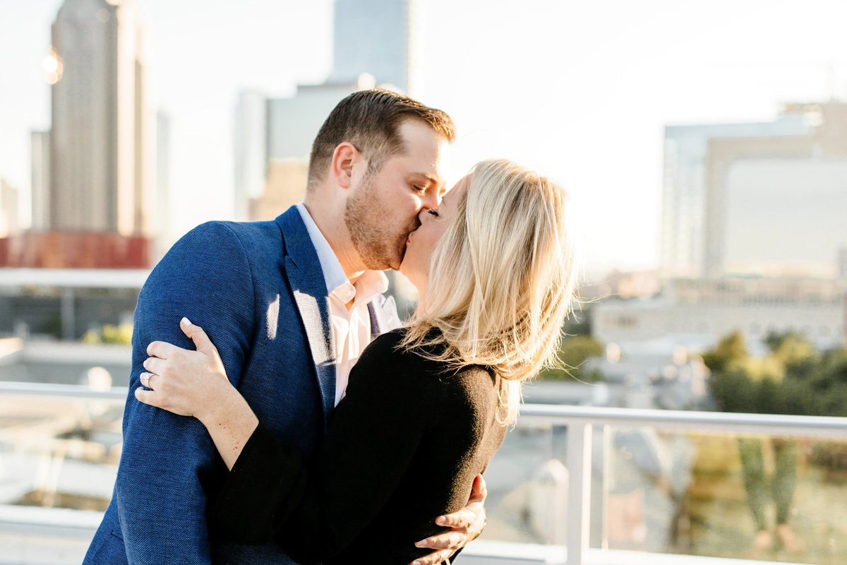 Eric & Megan - Downtown Dallas Rooftop Proposal & Engagement Session-46