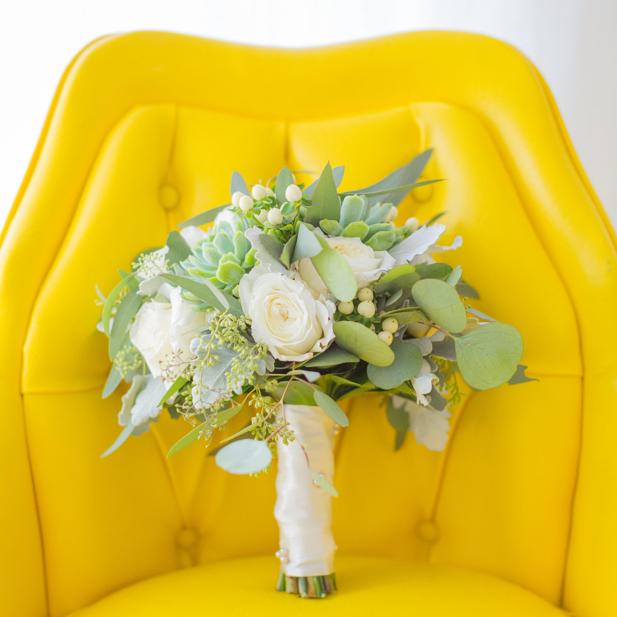 Modern Wedding Bouquet by David Rohr Floral Studio, Palm Springs