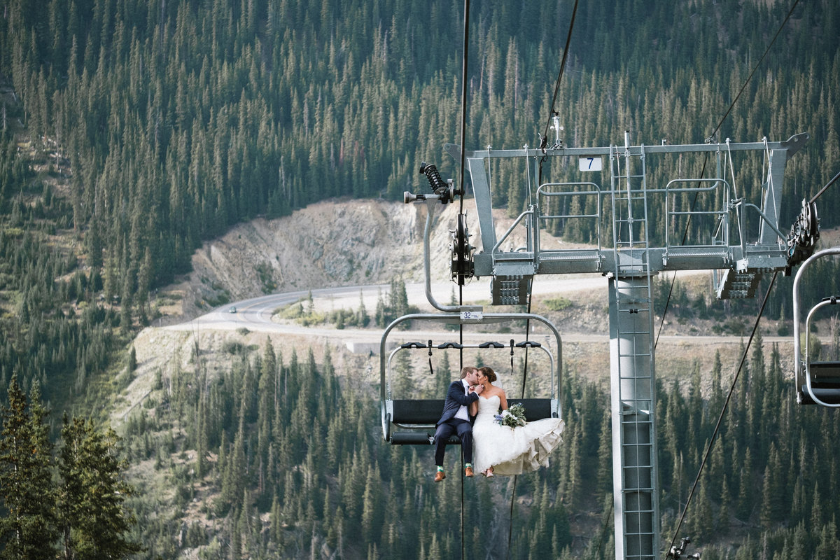 ski resort wedding lift