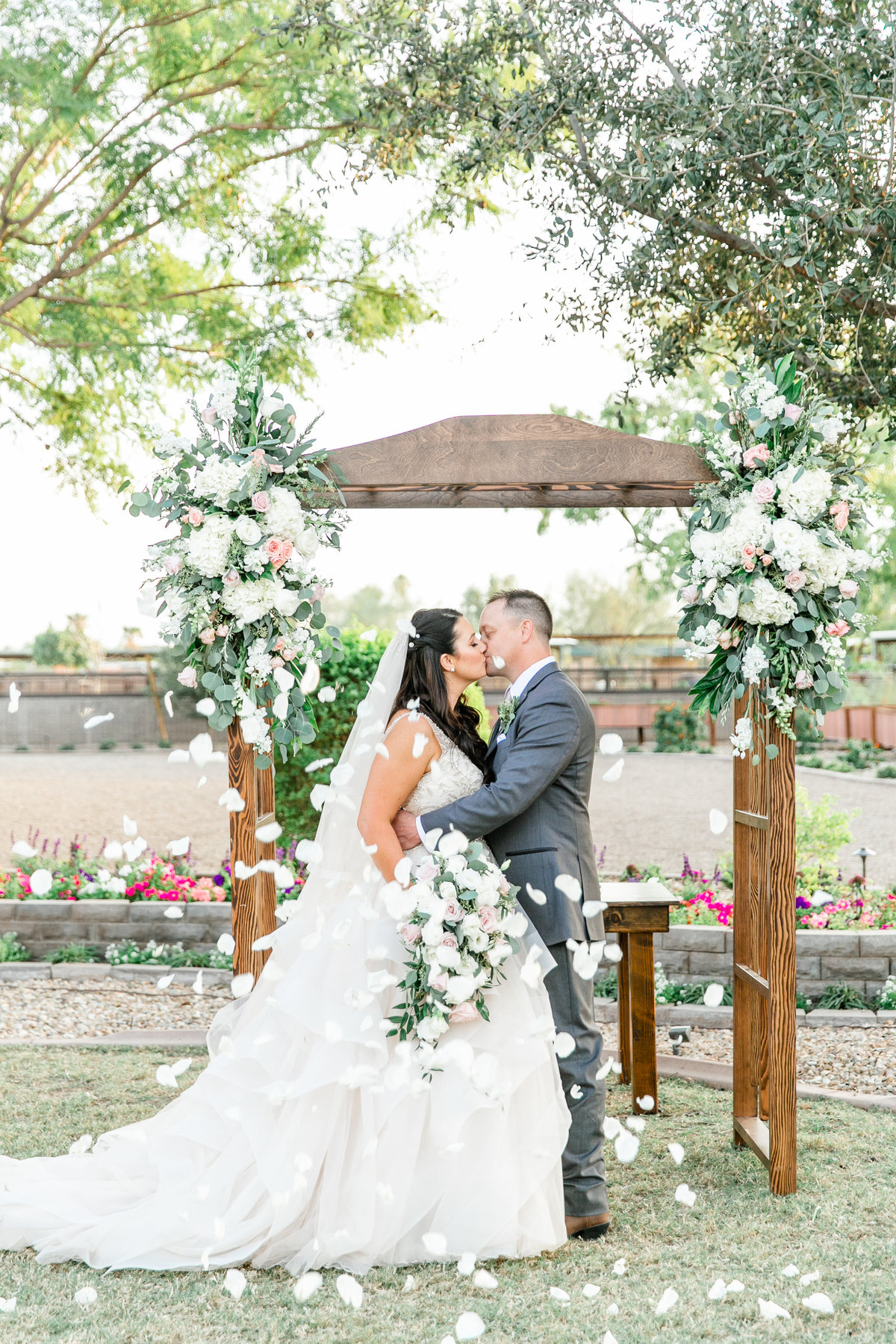 Karlie Colleen Photography - Glendale Arizona Backyard ranch wedding - Meghan & Ken-458