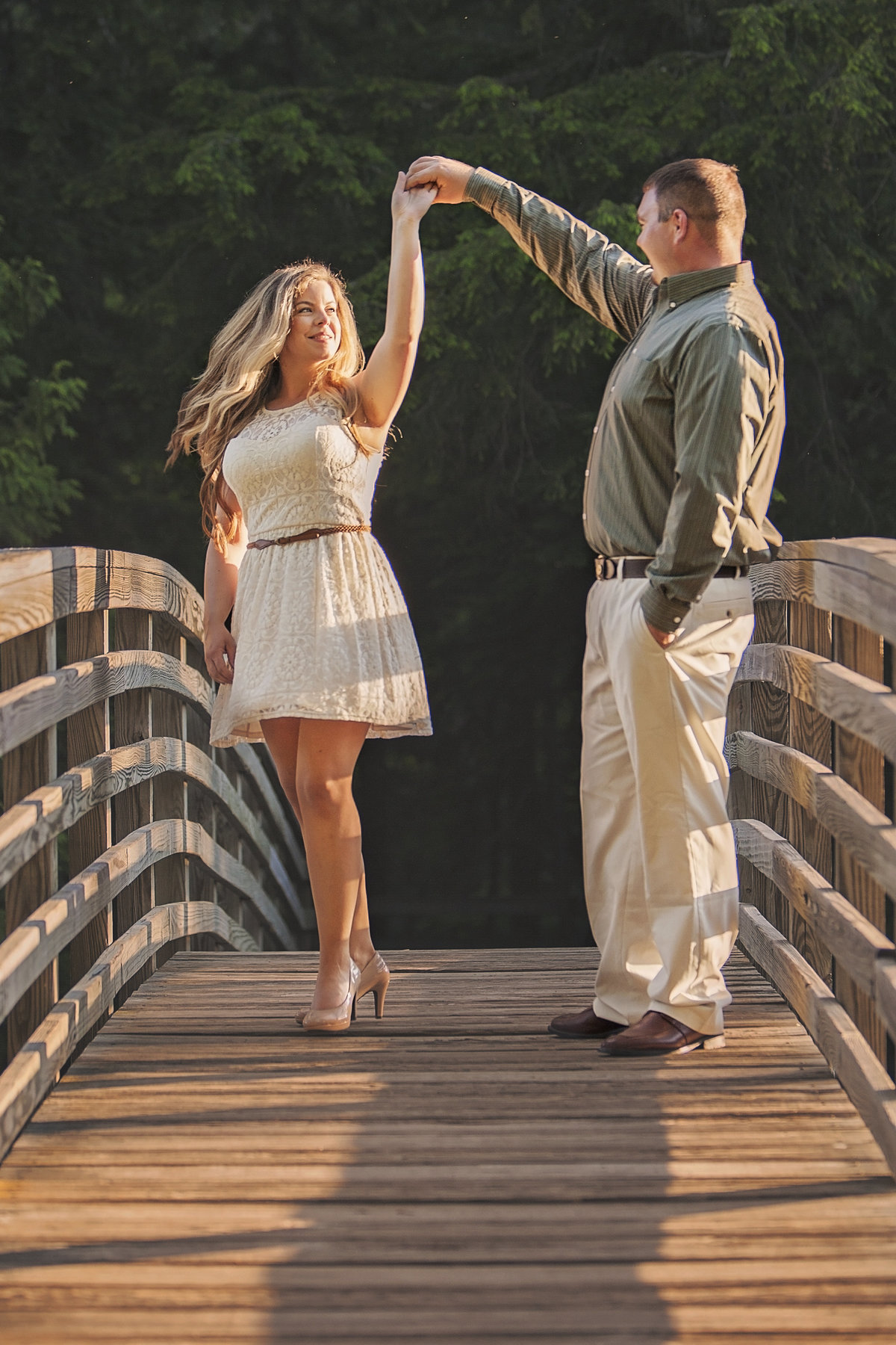 Chic Goodman Park campground engagement photos by Green Bay wedding photographer Casi Lea Photography