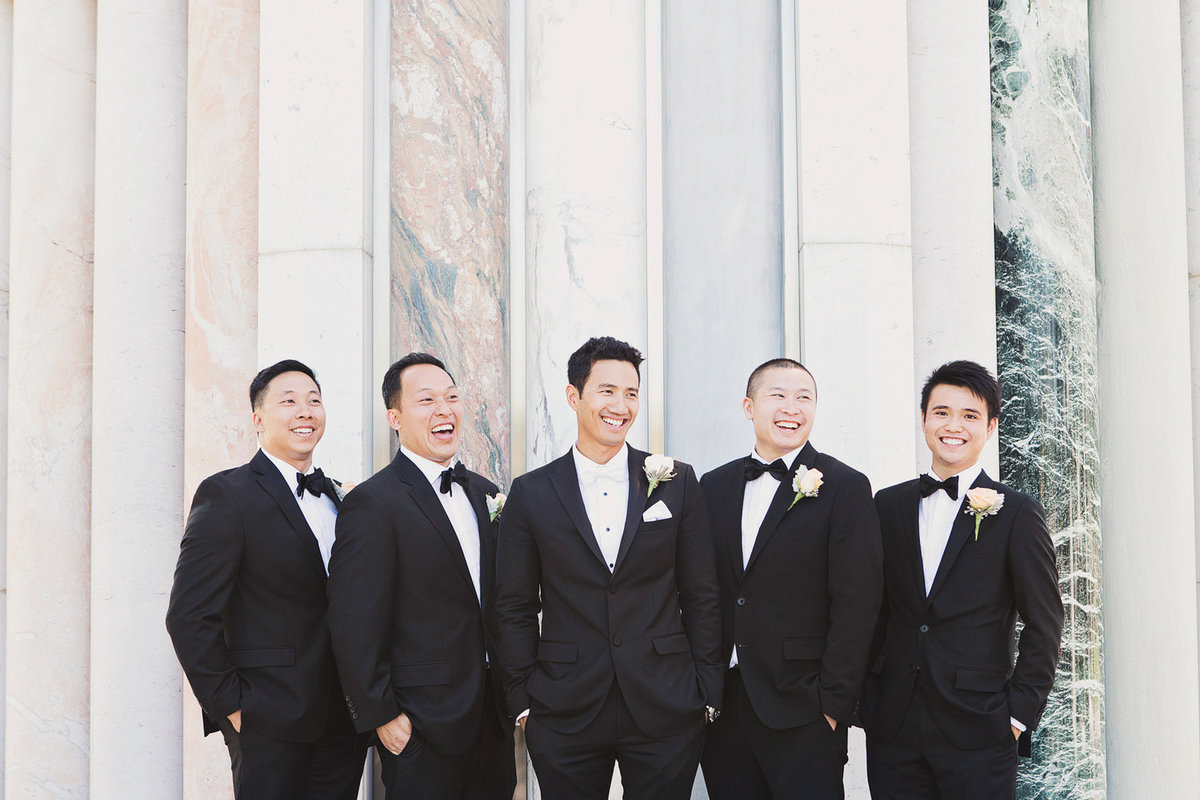 Groom with his groomsmen at the Christ Cathedral Wedding