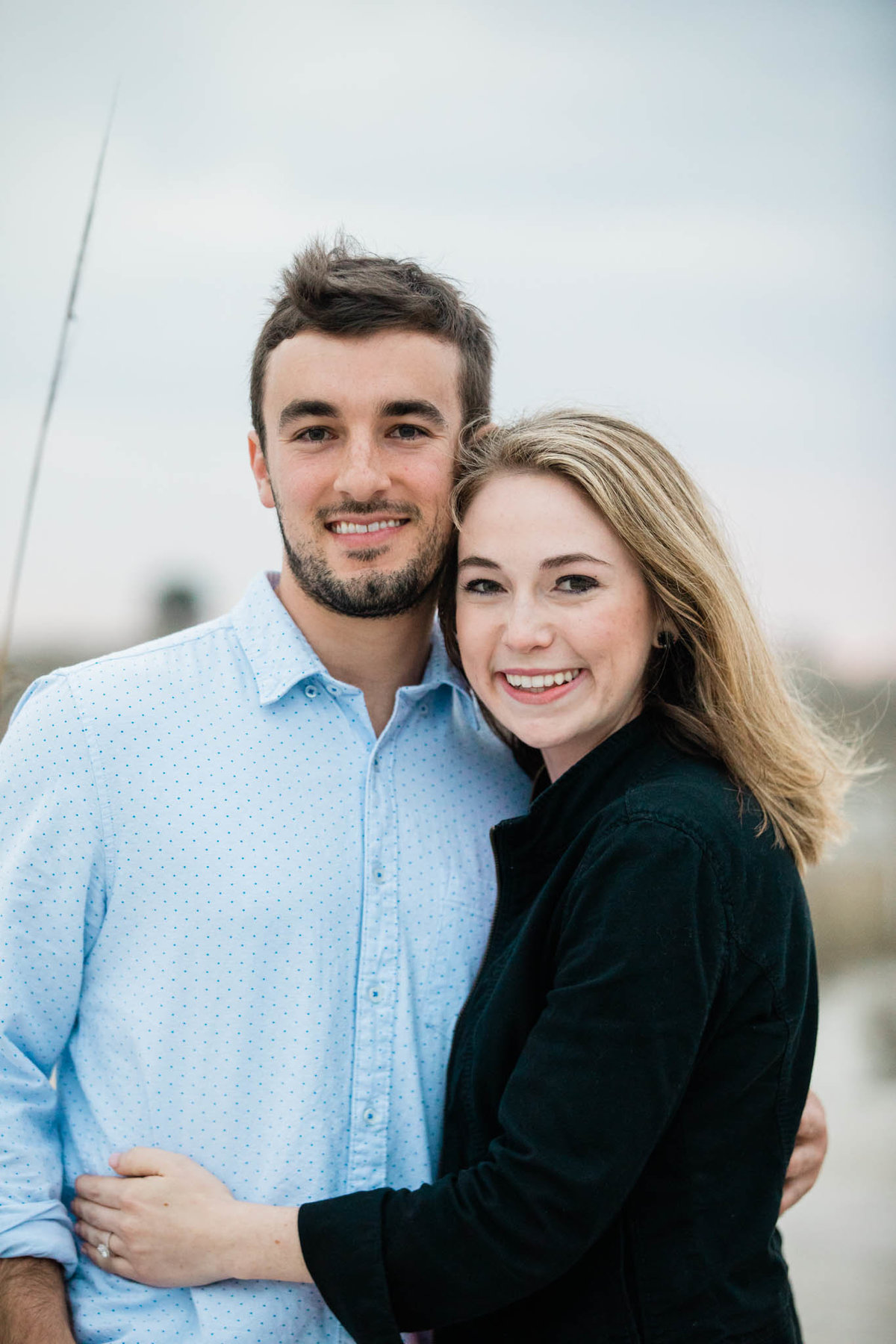 Photo of engaged couple by St Augustine Engagement Photographer