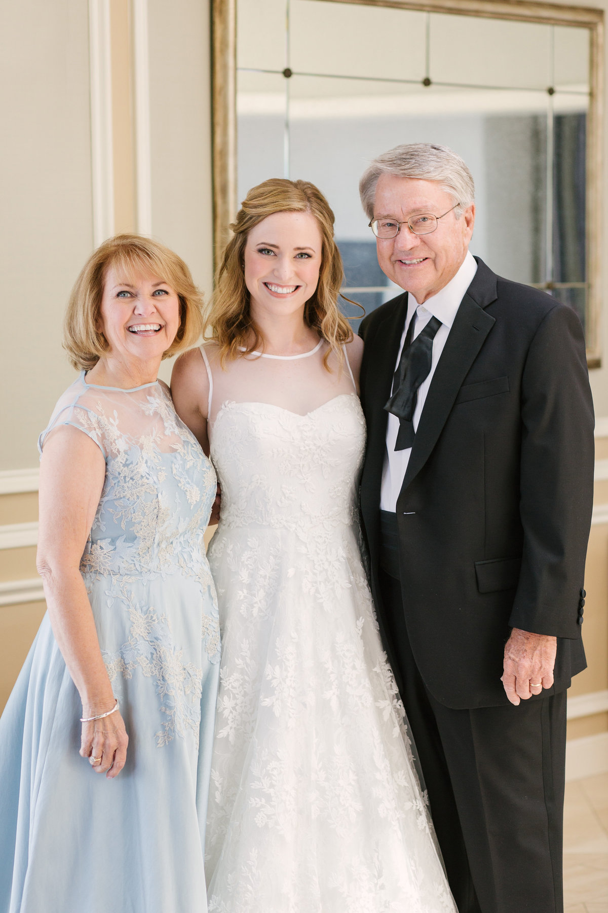 Scottish Rite Cathedral Wedding Family Photo