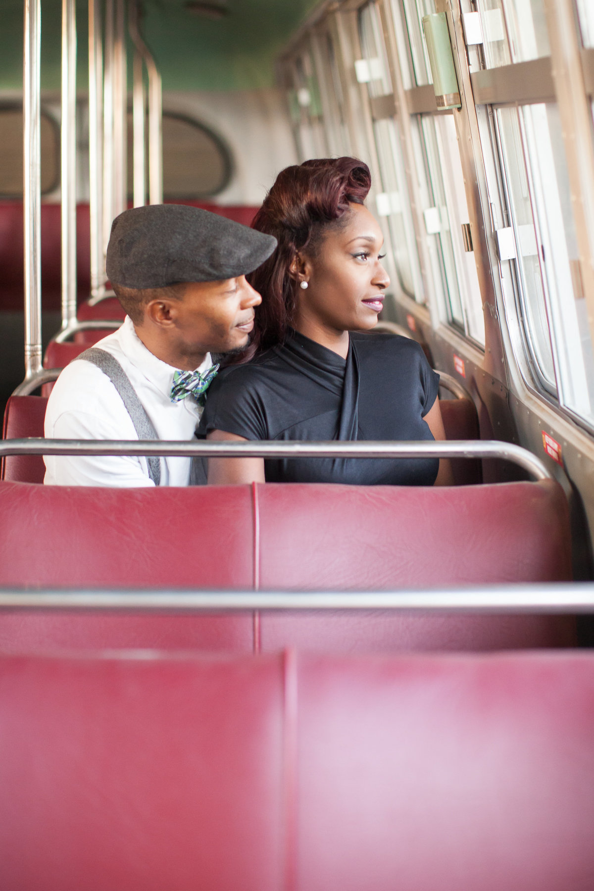 Engagement Session on a bus