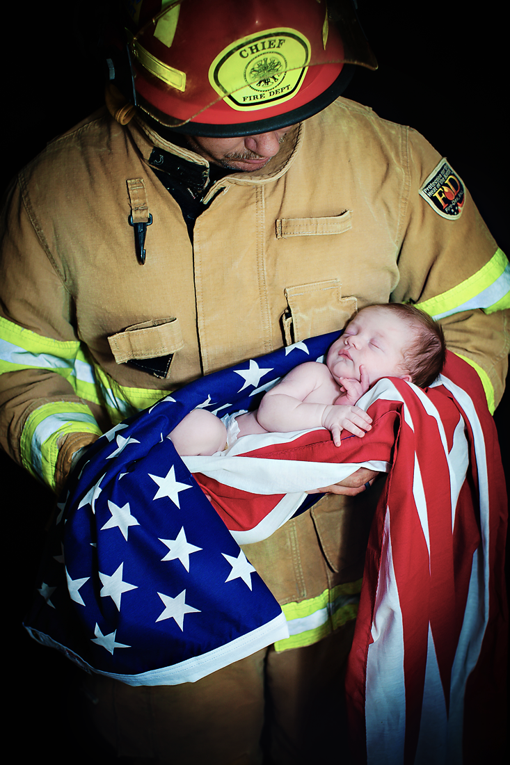 firefighter newborn