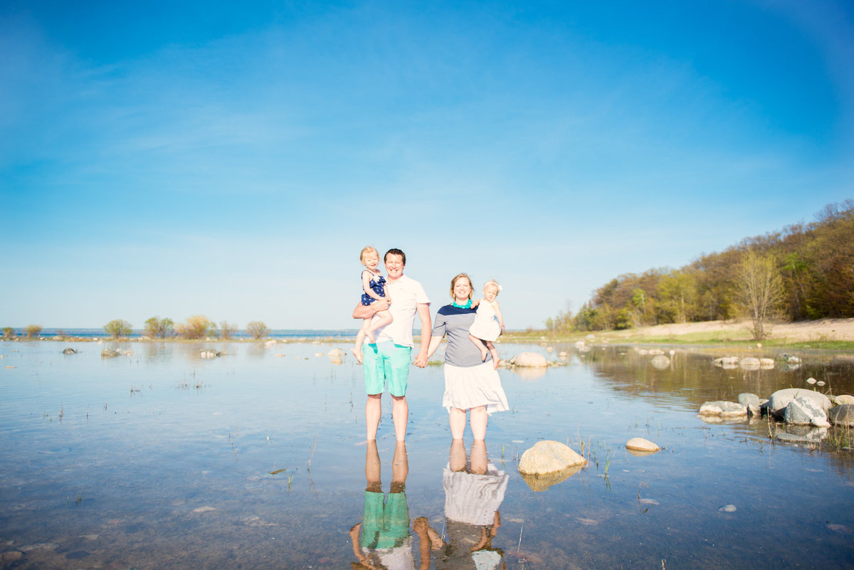 beach family portrait photographers in traverse city michigan