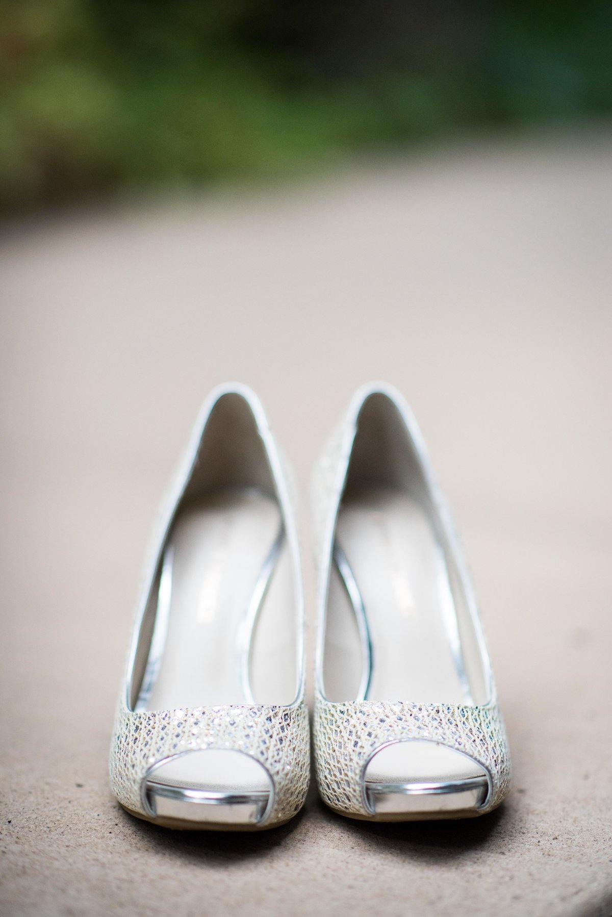Bridal shoes, Utah wedding.