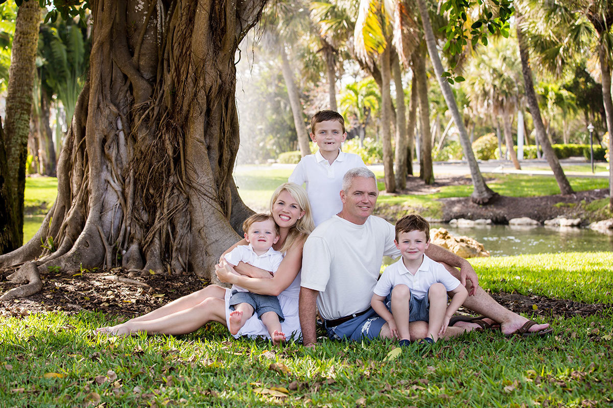 casa ybel family portrait sanibel