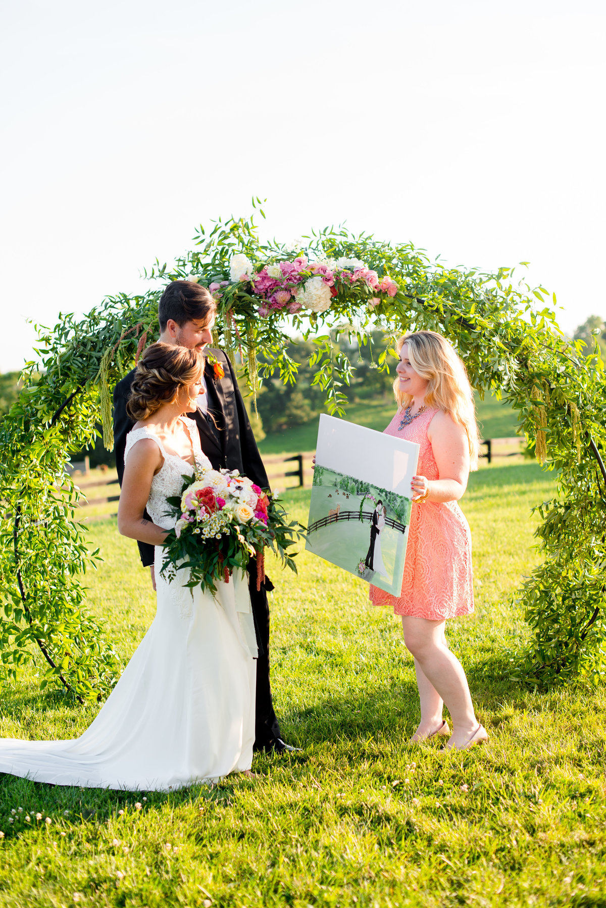 Shadow Creek Leesburg Virginia Live Wedding Painting By Brittany Branson