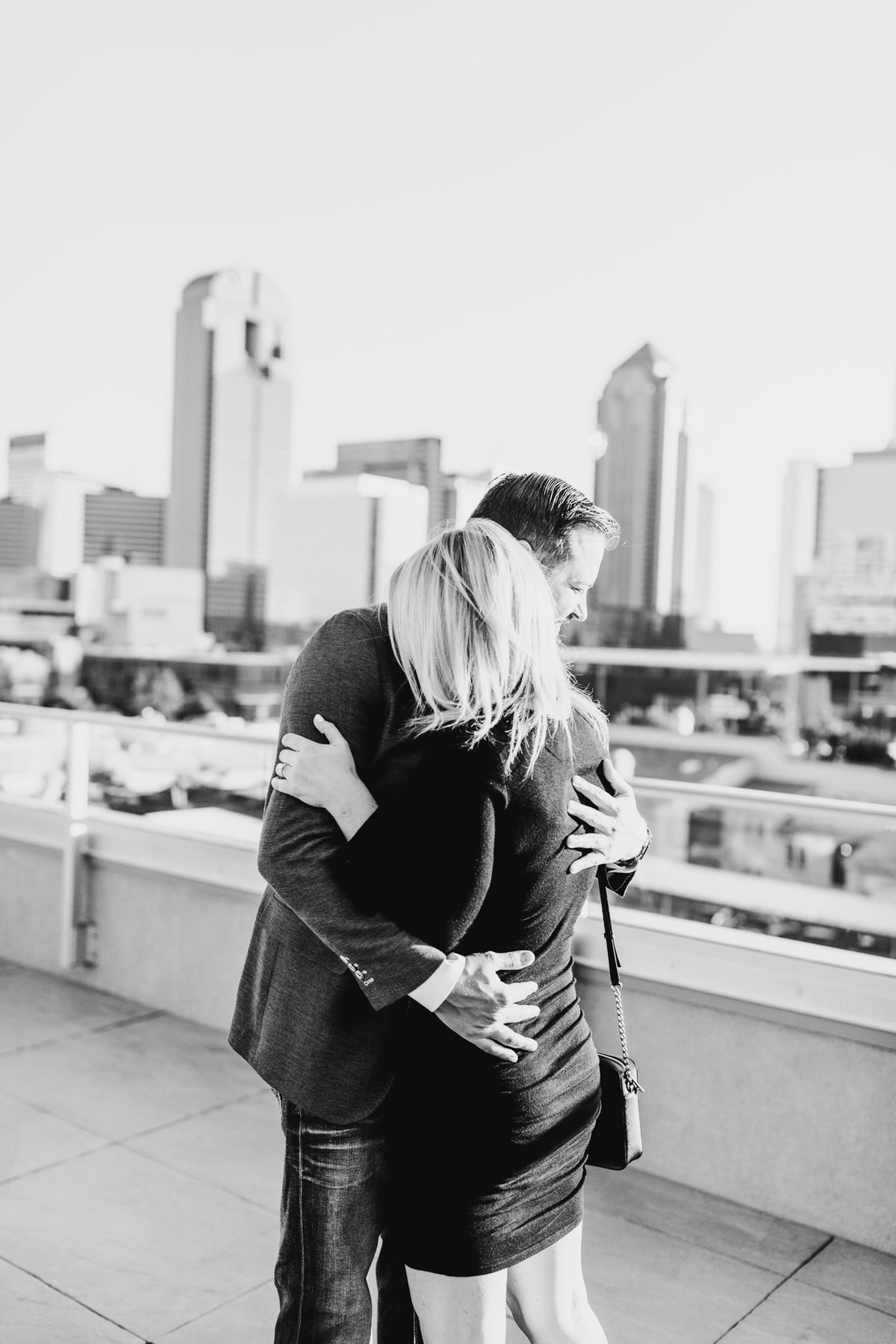 Eric & Megan - Downtown Dallas Rooftop Proposal & Engagement Session-47