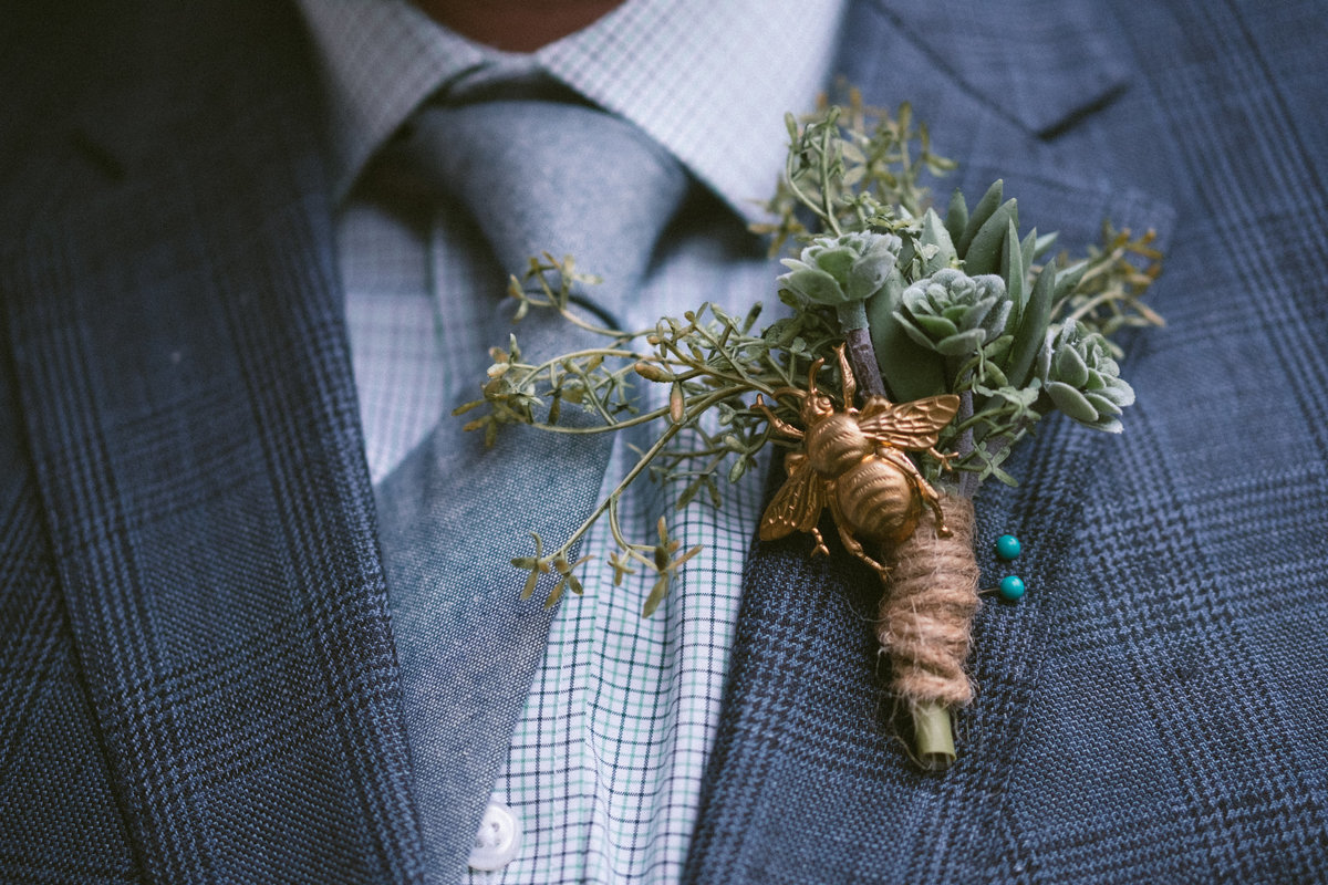 copper bee boutonniere