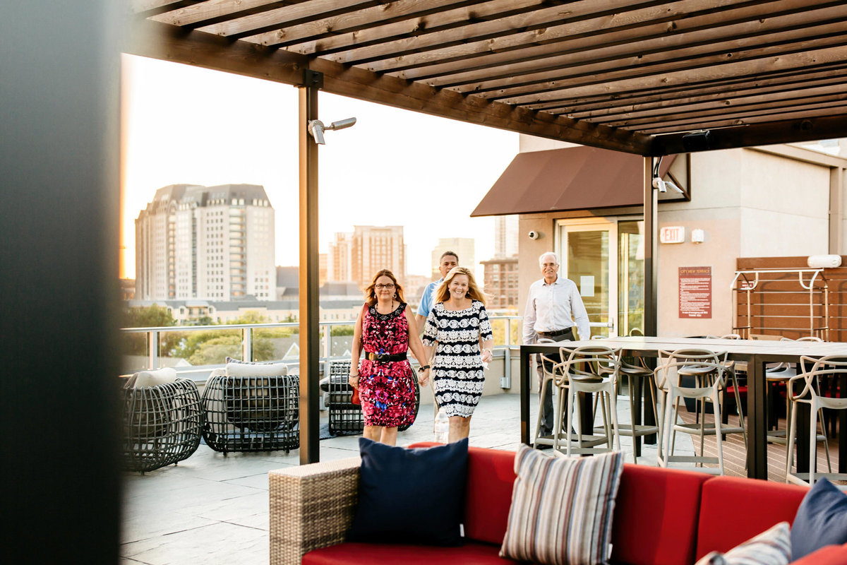 Eric & Megan - Downtown Dallas Rooftop Proposal & Engagement Session-115