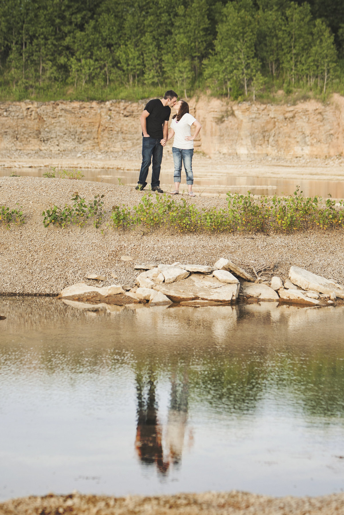 Summer engagement photos by Green Bay wedding photographer Casi Lea Photography