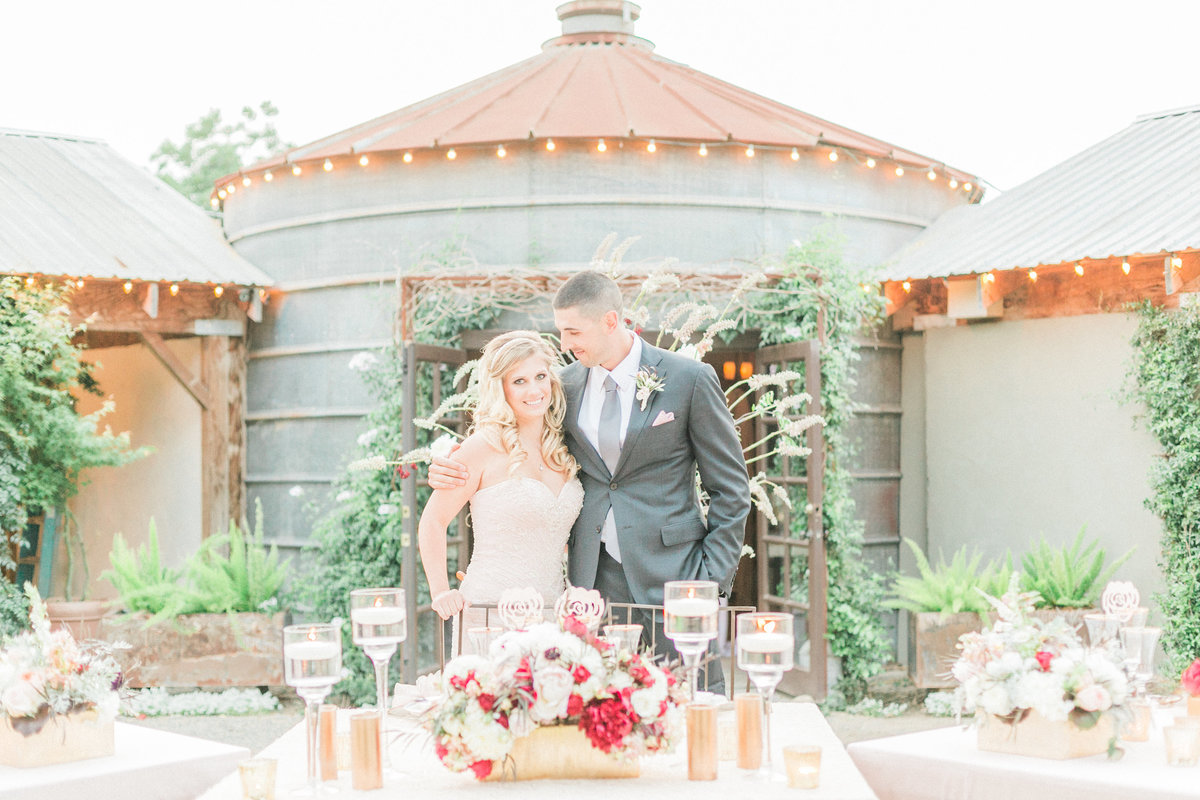 Rustic French Inspired Wedding Reception