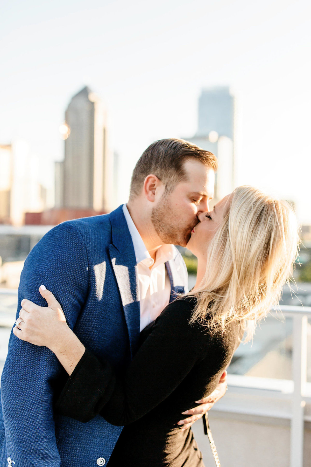 Eric & Megan - Downtown Dallas Rooftop Proposal & Engagement Session-45