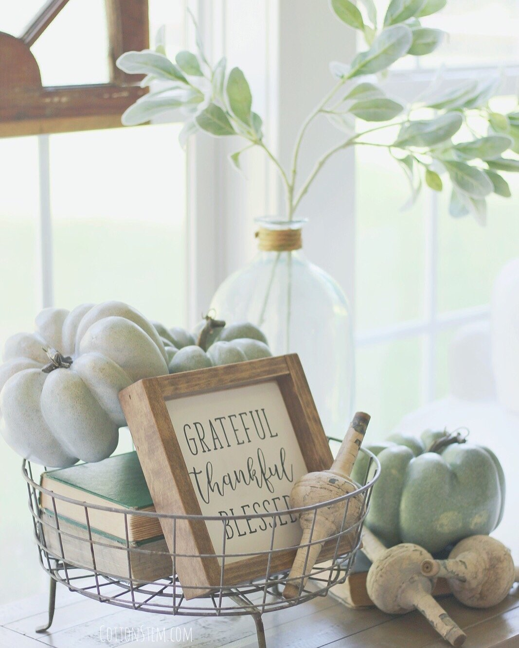 CottonStem.com farmhouse decor fall pumpkins