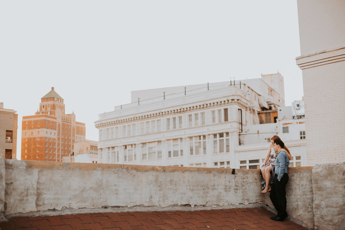 Downtown El Paso Texas Plaza Engagement Couple Bride and Groom Wedding Life In Tandem Photography-21