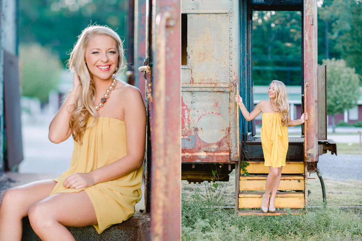 outdoor sunset senior photography greensboro north carolina