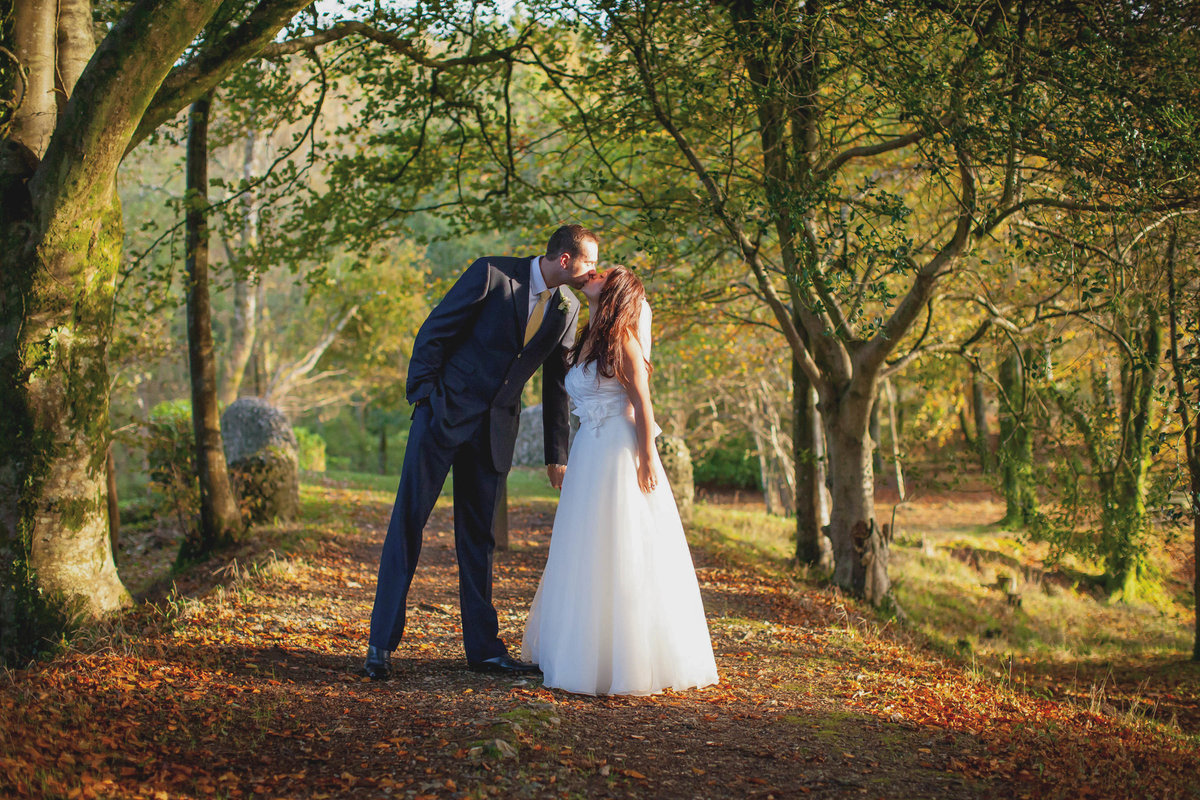 haldon belvedere wedding in devon autumnal light