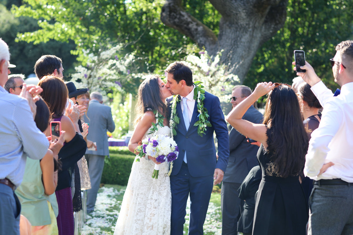 I do! First Kiss leaving the Wedding, Photography in Atherton, California