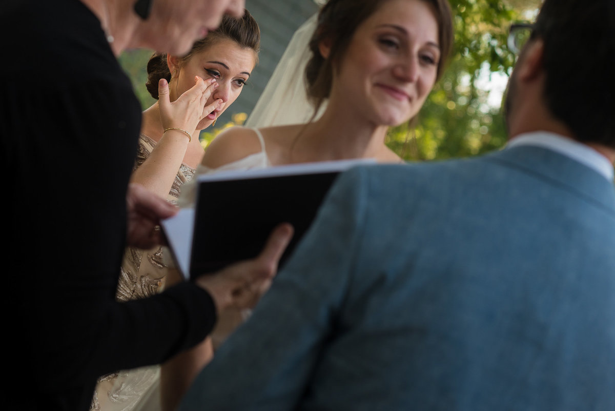 Brooklyn Wedding Photographer | Rob Allen Photography | Destination Wedding Photographer at Mt. Sinai New York  brides sister gets emotional