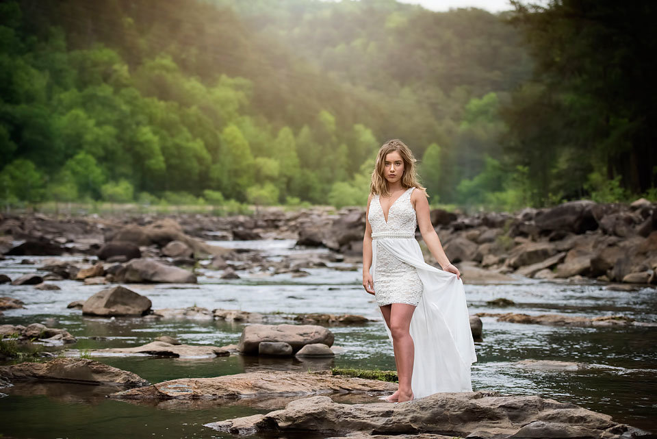senior_portrait_white_dress_river